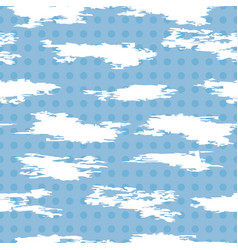 seamless pattern of white abstract cloudlike vector image