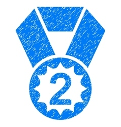 Second Place Grainy Texture Icon vector