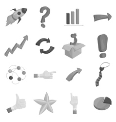 SEO optimization icons set black monochrome style vector image