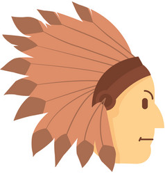 set of indian head vector image