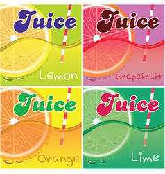 Set of labels for packaging juice vector