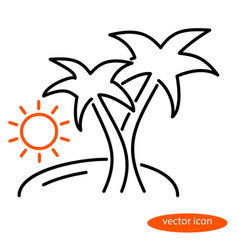 Simple linear of a landscape vector