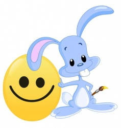Smiley face and bunny vector