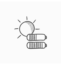 Solar energy sketch icon vector image