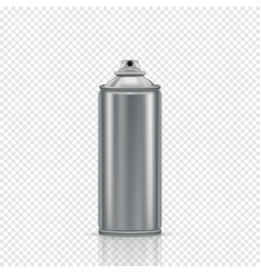 steel spray can on a transparent background vector image