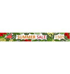 summer sale horizontal web banner vector image