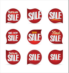 summer sale retro badge collection 2 vector image