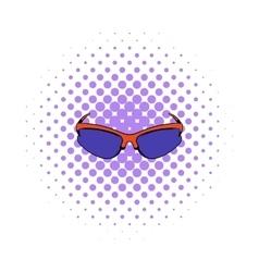 Sunglass icon comics style vector image