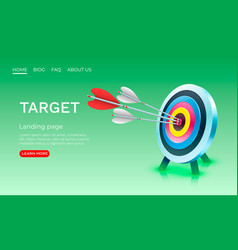 target landing page banner business 3d icon vector image