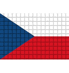 The mosaic flag of Czech vector