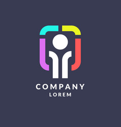 trendy logo for the company business vector image