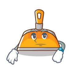 Waiting dustpan character cartoon style vector