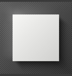 white blank 3d square box with shadow sample vector image