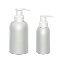 white bottles with dispenser vector image