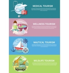 Wildlife Wellness Medical and Nautical Tourism vector image
