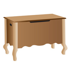 Wooden storage cabinet vector