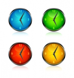 Clocks and watches vector