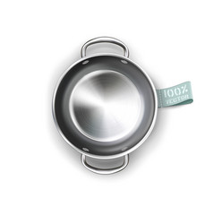metallic pan isolated on white background vector image