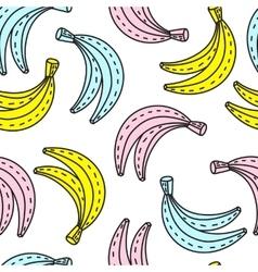 seamless pattern of Bananas Summer mood vector image