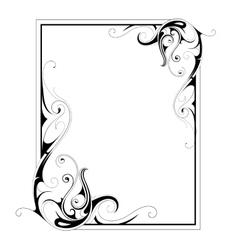 Calligraphic retro frame vector image vector image