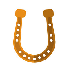 golden horseshoe icon vector image vector image