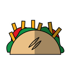 mexican taco isolated icon vector image