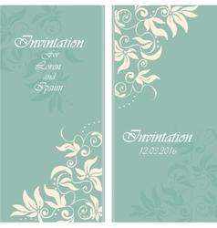 wedding invintation or party invinatation card vector image
