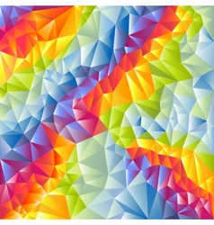 Abstract multicolored triangles background vector image vector image