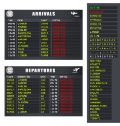 flight information's vector image vector image
