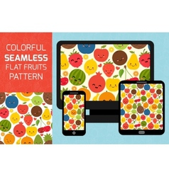 Fruits seamless pattern background Colorful vector image