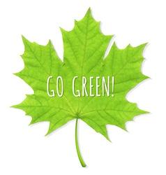 Green Leaf Go Green vector image vector image