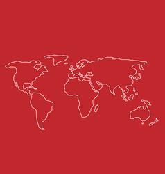 hand drawn world map vector image vector image