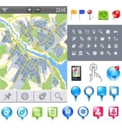 map-icon-gps vector image vector image
