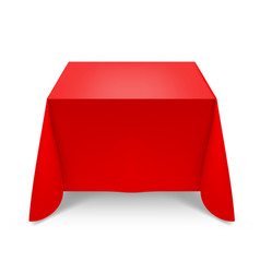 red tablecloth on white background for design vector image vector image