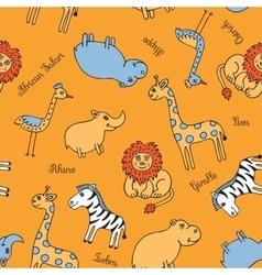 Seamless pattern animal Safari vector image vector image