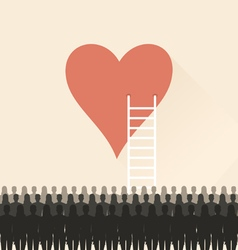 Stairs to heart vector image vector image