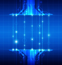 technology with fiber optic vector image vector image