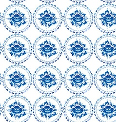 Vintage shabby Chic Seamless ornament pattern blue vector image vector image