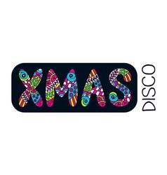 Xmas disco banner vector