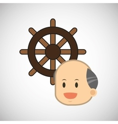 sea lifestyle design flat vector image