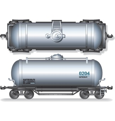 Train Oil Tanks vector image vector image