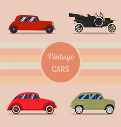 vintage car 01 vector image