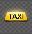 3d realistic glowing yellow french taxi vector image vector image