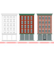 a classic american brick multi-storey house vector image vector image