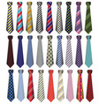 A set of male business ties on a white background vector image