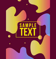 abstract modern background fluid cover vector image