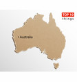australia map australian maps craft paper vector image