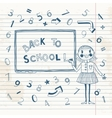 Back to school Schoolgirl at the blackboard vector image