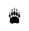 bear footprint vector image vector image