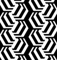 Black and white striped rotated hexagons vector image